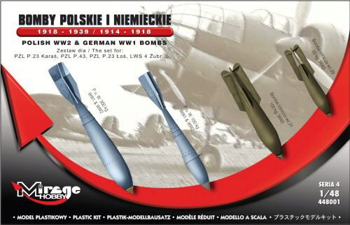 Mirage Hobby 448001 German WWI Bombs 1918-1939 & 1914-1918