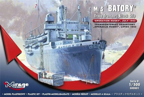 Mirage Hobby 500801 M/S Batory Troop Transporter-Attack Ship