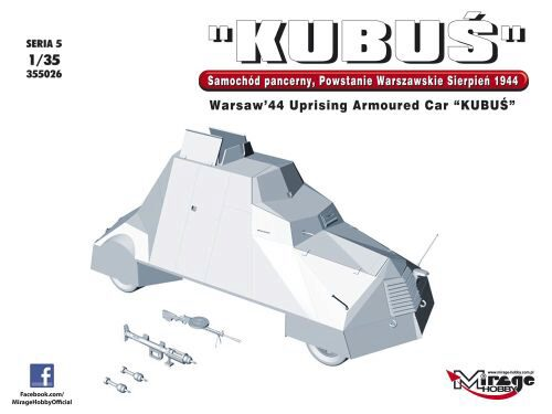 Mirage Hobby 355026 KUBUS Warsaw´44 Uprising Armoured Car