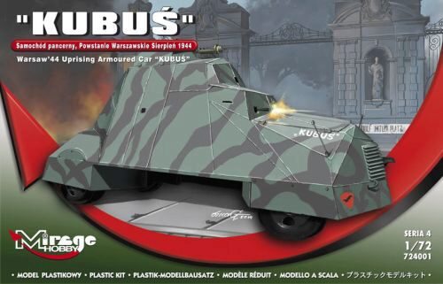 Mirage Hobby 724001 KUBUS (Warsaw'44 Uprising Armoured Car)
