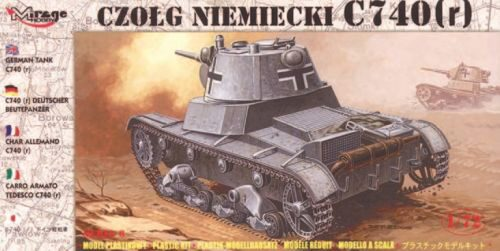 Mirage Hobby 72619 Deutscher Panzer C 740 (r)