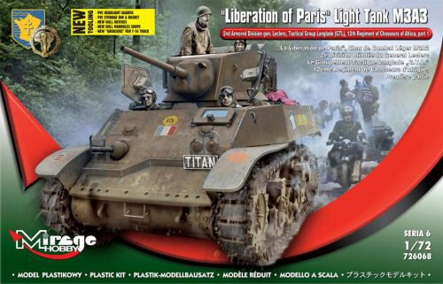 Mirage Hobby 726068 Liberation of Paris,Light Tank M3A3