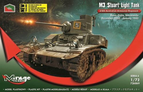 Mirage Hobby 726069 M3 STUART Light Tank 2/6th Australian Armoured Regiment(Buna,Gona,Dec.42