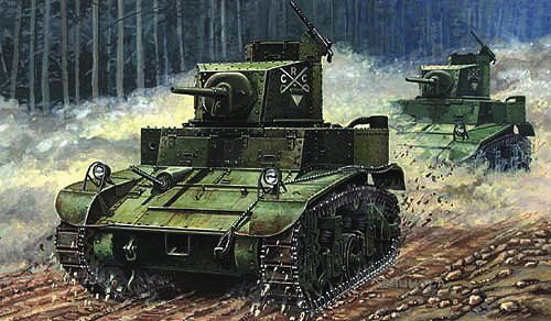 Mirage Hobby 726070 M3 US Light Tank 'First Hundred'
