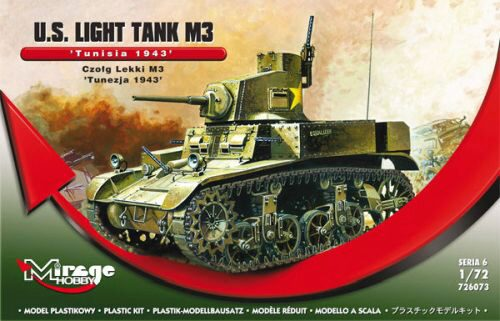 "Mirage Hobby 726073 U.S. Light Tank M3 ""Tunisia 1943"""