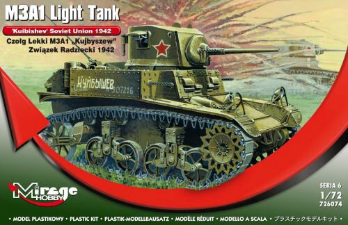 Mirage Hobby 726074 M3A1 Light Tank 'Kuibishev' Sov. Union