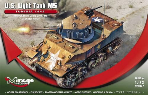 "Mirage Hobby 726077 U.S. Light Tank M5 ""TUNISIA 1942"""