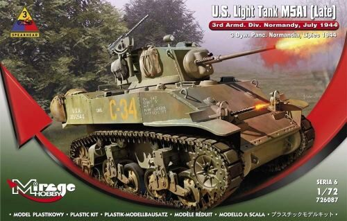 Mirage Hobby 726087 U.S.Light Tank M5A1 (Late) 3rd Armd.DivN