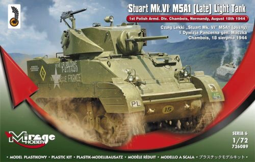 Mirage Hobby 726089 Stuart MK.VI M5A1 (Late) Light Tank