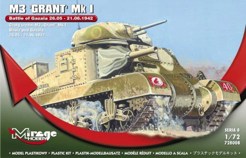 Mirage Hobby 728008 M3 GRANT Mk I Battle of GAZALA -21.06.42
