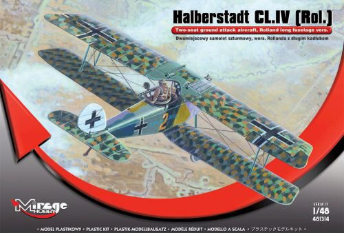 Mirage Hobby 481314 Halberstadt CL.IV(Rol)Twi-seat ground su