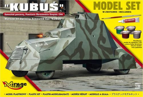 Mirage Hobby 835091 Kubus(Warsaw'44 Uprising Armoured Car) Model Set
