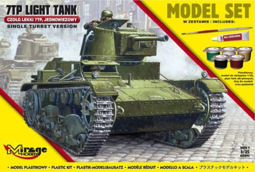 "Mirage Hobby 835092 7TP Light Tank ""Single Turret""(Model Set"