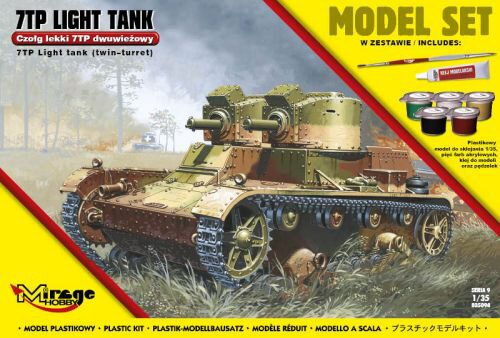 "Mirage Hobby 835094 7TP Light Tank ""Twin Turret""(Model Set)"
