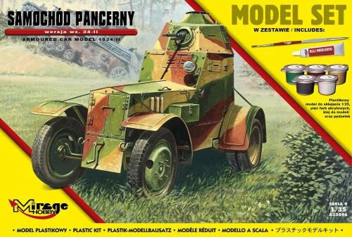 Mirage Hobby 835096 Armoured Car Model 1943/II (Model Set)