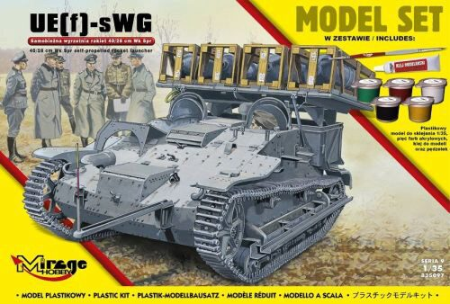 Mirage Hobby 835097 UE(f)-sWG,40/28cm WK Spr(German self-pro propelled rocket launcher)(ModelSet