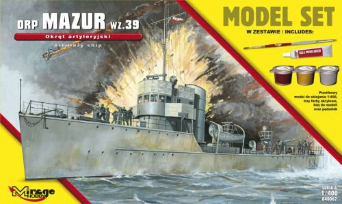 "Mirage Hobby 840062 ORP""Mazur""-wz.39(the GunneryShip)ModelSe"