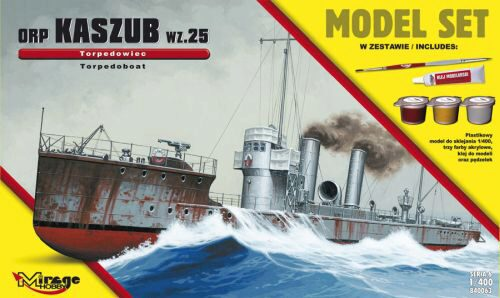 "Mirage Hobby 840063 ORP""KASZUB""-wz.25-TORPEDO Ship(Model Set"
