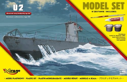 Mirage Hobby 840065 U2(German Submarine WWII typeIIA(ModelSe
