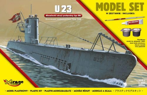Mirage Hobby 840066 U23 (German Submarine WWII TypeIIB(Model (Model Set)