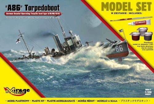 Mirage Hobby 845091 A86 German Torpedoboot (Model Set)