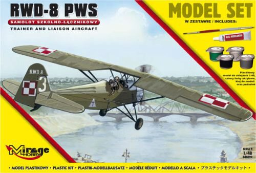 Mirage Hobby 848092 R.W.D.-8 PWS(Trainer a.Liaison plan vers (Model Set)