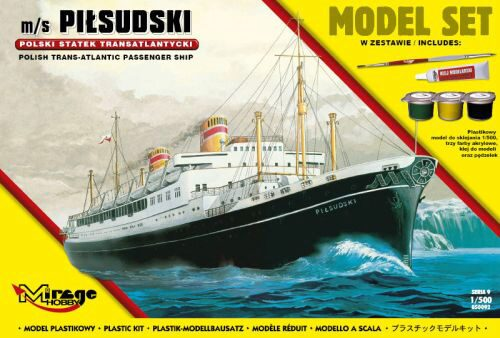 Mirage Hobby 850092 m/s PILSUDSKI(Trans-Atlantic Passenger S Ship)(Model Set)