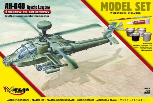 Mirage Hobby 872091 AH-64D APACHE Longbow (Model Set)