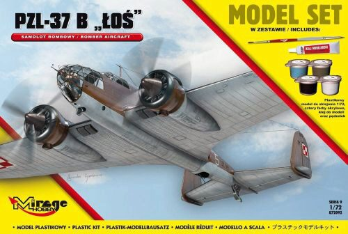 Mirage Hobby 872092 PZL-37 B Los (Polish Bomber Aircraft) Model Set