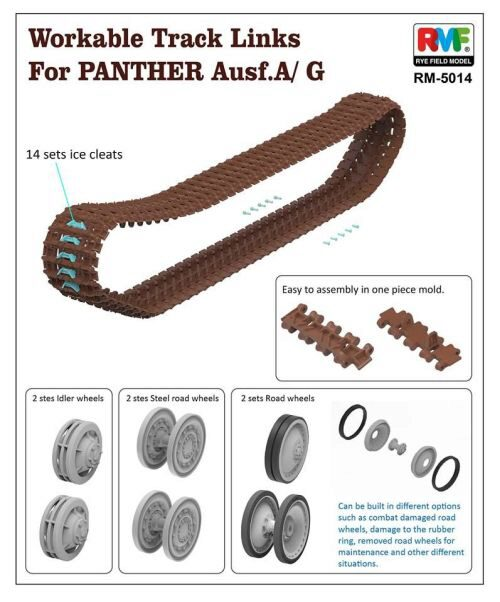 Rye Field Model RM-5014 Workable Track Links for Panther A/G