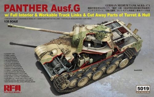 Rye Field Model RM-5019 Panther Ausf.G with full interior & cut away parts