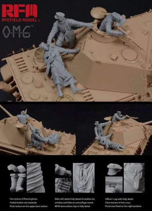 Rye Field Model OM-35001 Figures for PANTHER G, Fallen Resin
