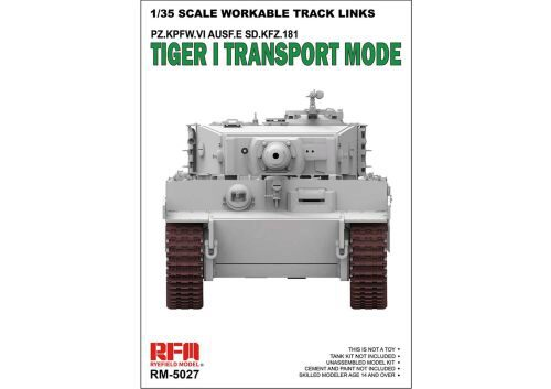 Rye Field Model RM-5027 TIGER I Transport Workable Track Links PZ.KPFW.VI AUSF.E.SD.KFZ.181