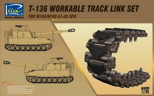 Riich Models RE30002 T-136 Workable Track set for M108/M109A1 -A5 SPH