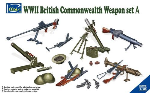 Riich Models RE30010 WWII British Commenwealth Weapon Set A