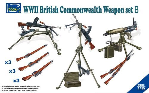 Riich Models RE30011 WWII British Commenwealth Weapon Set B