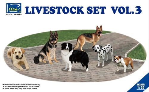 Riich Models RV35021 Livestock Set Vol.3 (six dogs)