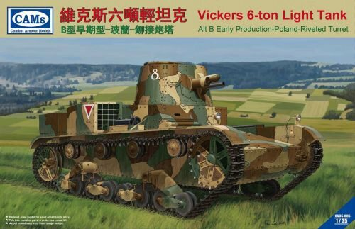 Riich Models CV35-005 Vickers 6-Ton light tank (Alt B Early Production-Poland-Riveted Turret