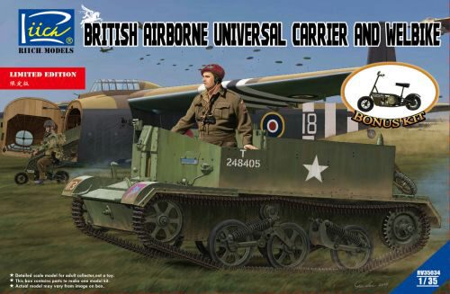 Riich Models RV35034 British Airborne Universal CarrierMk.III & Welbike Mk.2(Limited Edition