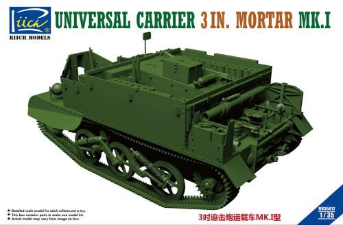 Riich Models RV35017 Universal Carrier 3 in. Mortar Mk.1