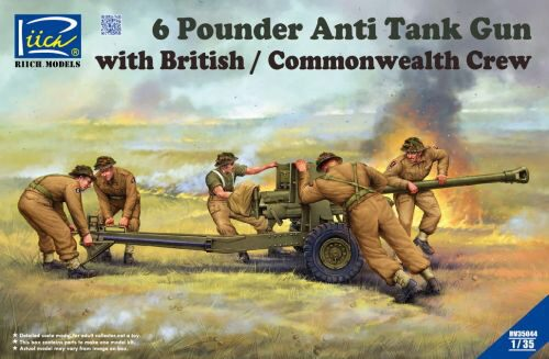 Riich Models RV35044 6 Pounder Anti Tank Gun with British Commonwealth Crew