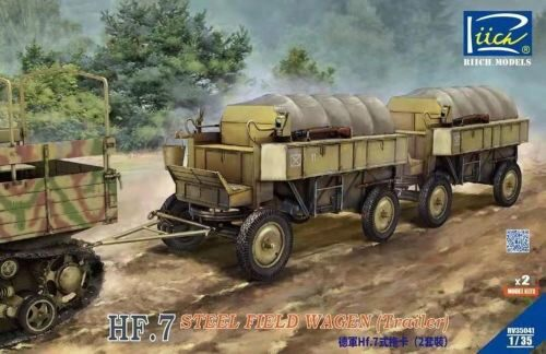 Riich Models RV35041 German Hf.7 steel field wagen (trailer) with resin parts (Dual pack)