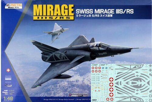 KINETIC K48058 SwissMirage IIIS/RS Schweizer Decals