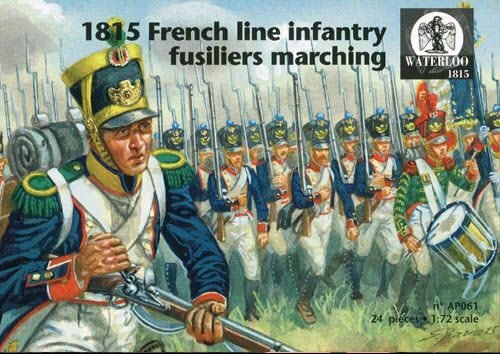 WATERLOO 1815 AP061 1815 French line infantry fusiliers marching