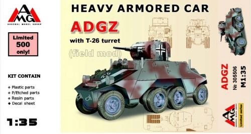 AMG AMG35506 Heavy Armored Car ADGZ with T-26 turret( field mod)