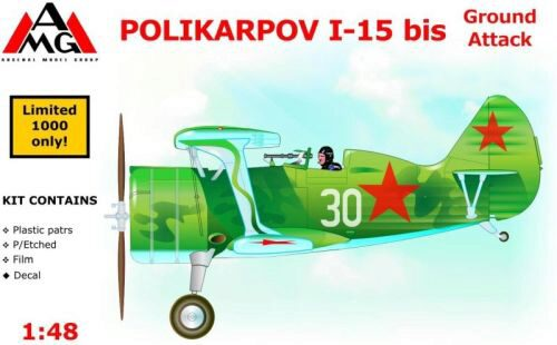AMG AMG48303 Polikarpov I-15 bis ground attack aircra