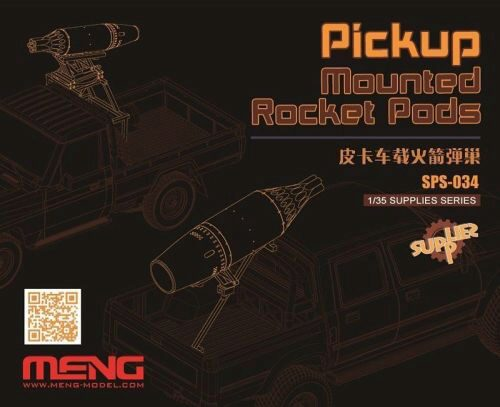 MENG-Model SPS-034 Pickup Mounted Rocket Pods (Resin)