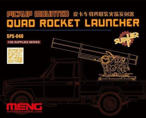 MENG-Model SPS-040 Pickup Mounted Quad Rocket Launcher (RESIN)