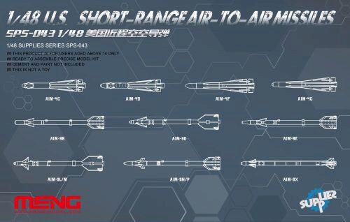 MENG-Model SPS-043 U.S.Short-range Air-to-air Missiles