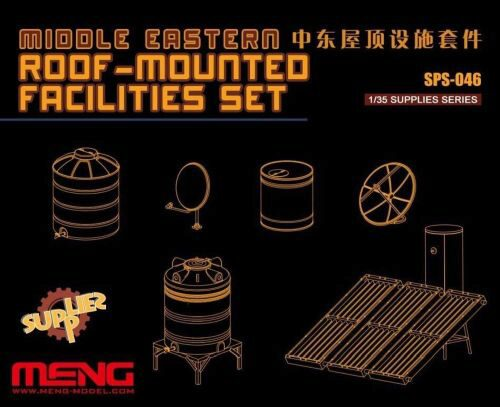 MENG-Model SPS-046 Middle Easters Roof-mounted Facilities Set (Resin)